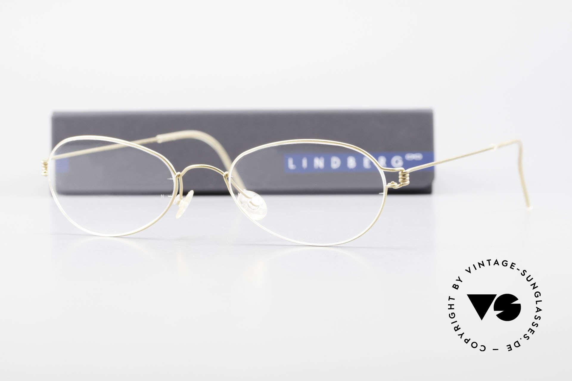 Lindberg Kari Air Titan Rim Titanium Ladies Eyeglasses, simply timeless, stylish & innovative: grade 'vintage', Made for Women