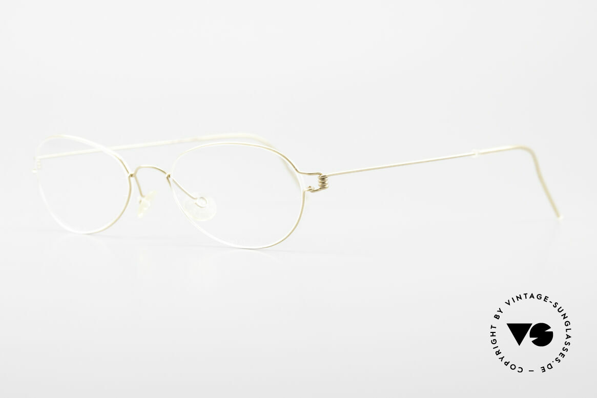Lindberg Kari Air Titan Rim Titanium Ladies Eyeglasses, unworn, NOS, with original magnetic case by Lindberg, Made for Women