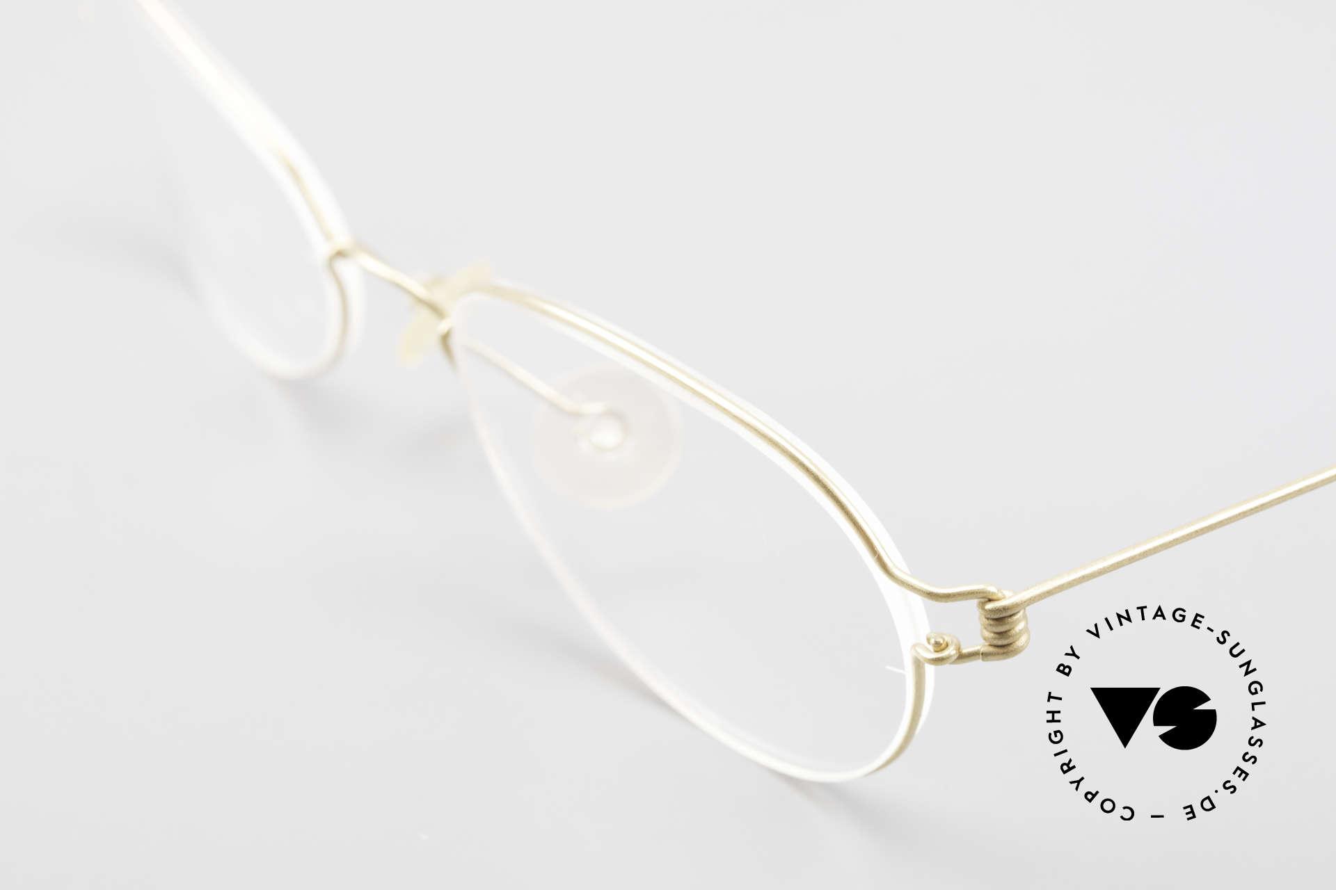 Lindberg Kari Air Titan Rim Titanium Ladies Eyeglasses, simple & strong frame: free from screws, rivets & welds, Made for Women