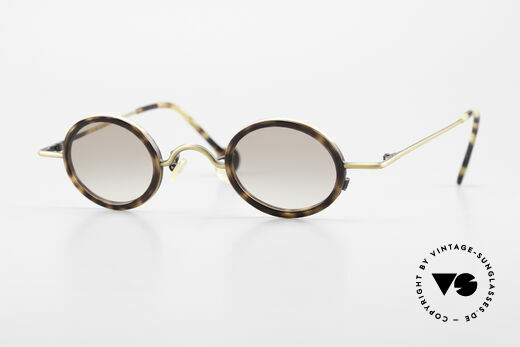 L.A. Eyeworks LINK 143 Oval Round Sunglasses 1994 Details