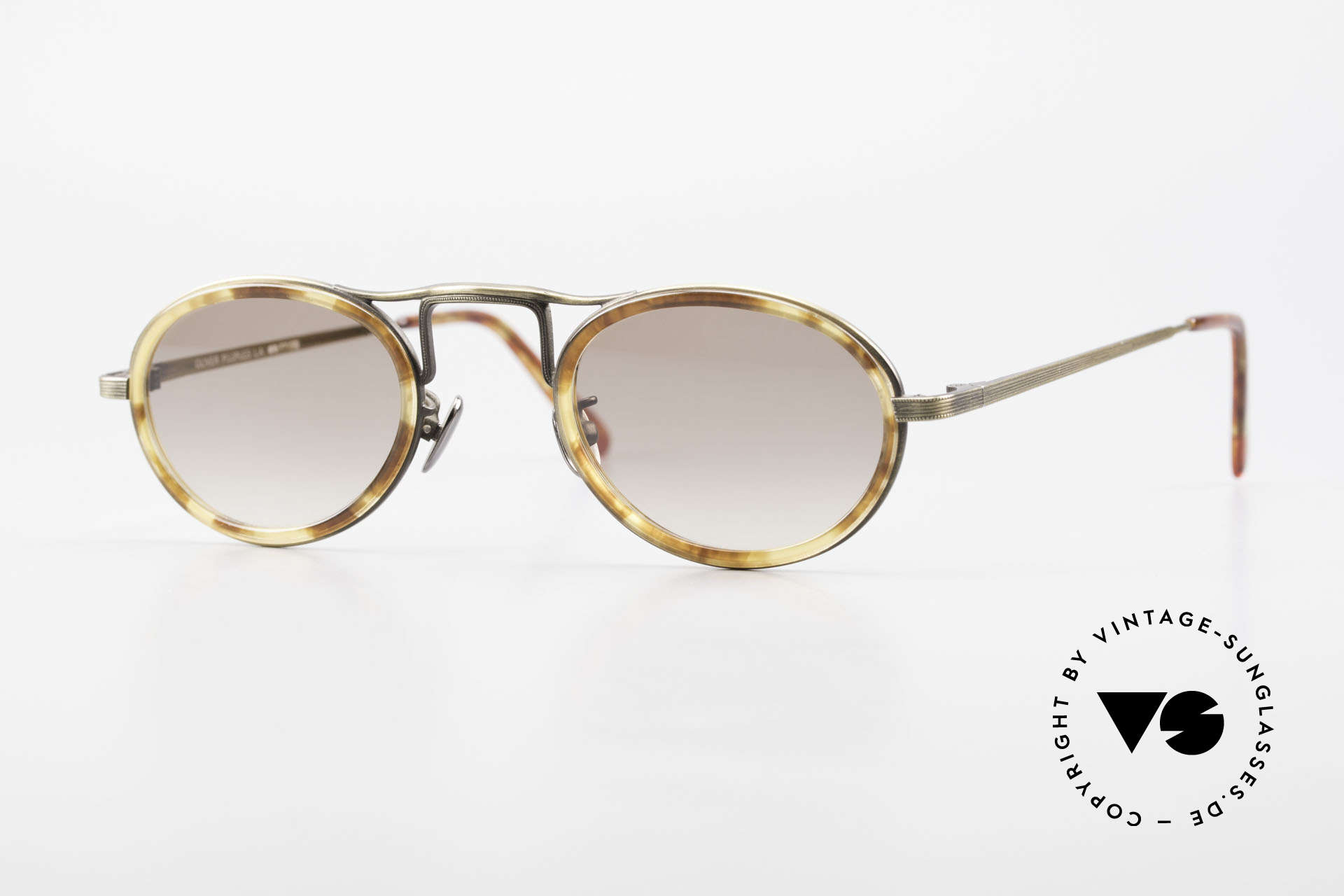 Oliver Peoples MP1 Vintage Designer Frame Oval, vintage Oliver Peoples sunglasses from the late 1990's, Made for Men and Women