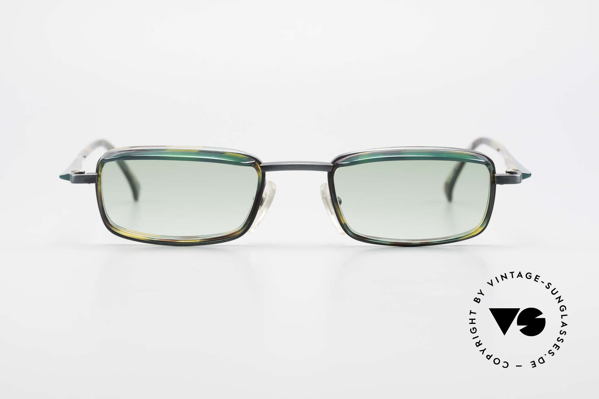 Alain Mikli 1147 / 3509 Square Designer Frame 90's, lovely combination of materials, forms & colors, Made for Men and Women