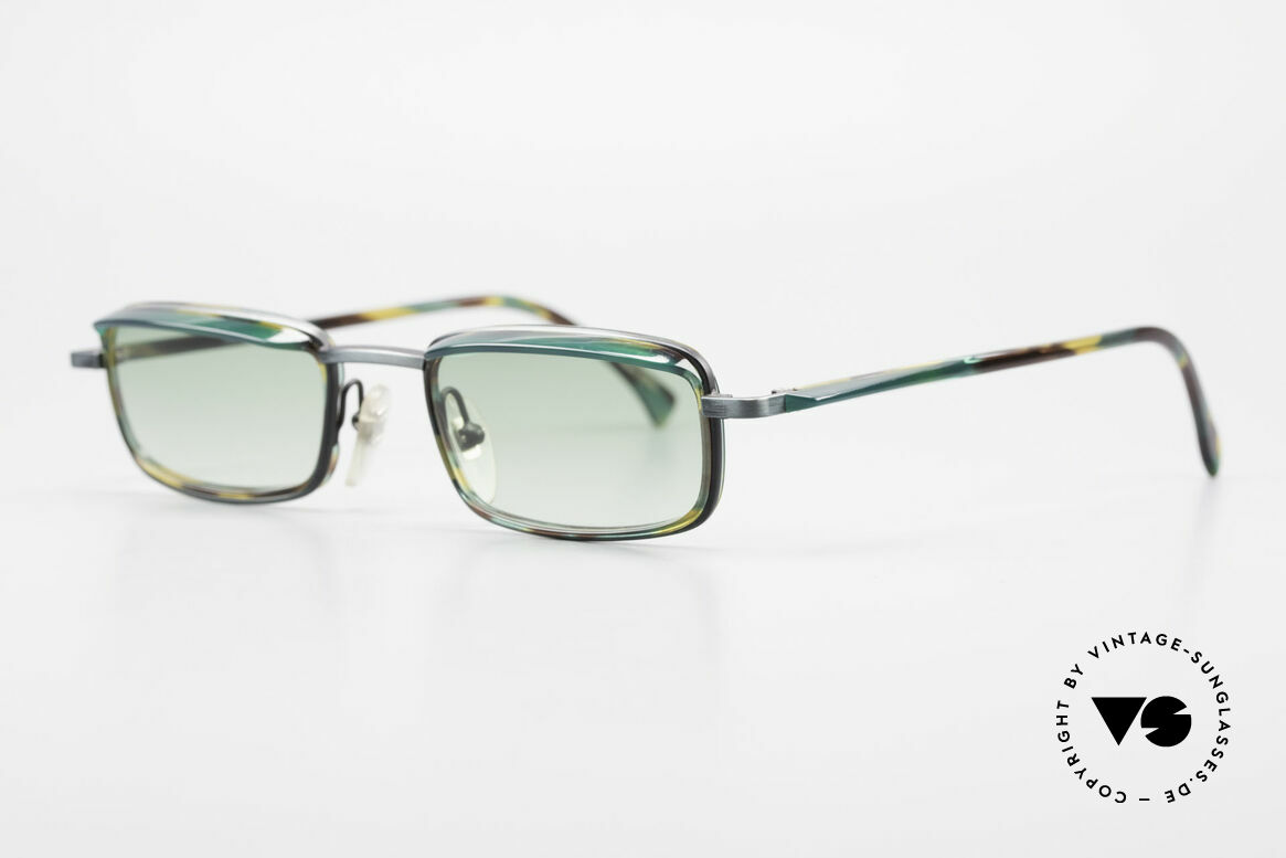 Alain Mikli 1147 / 3509 Square Designer Frame 90's, very interesting frame pattern (check the photos), Made for Men and Women