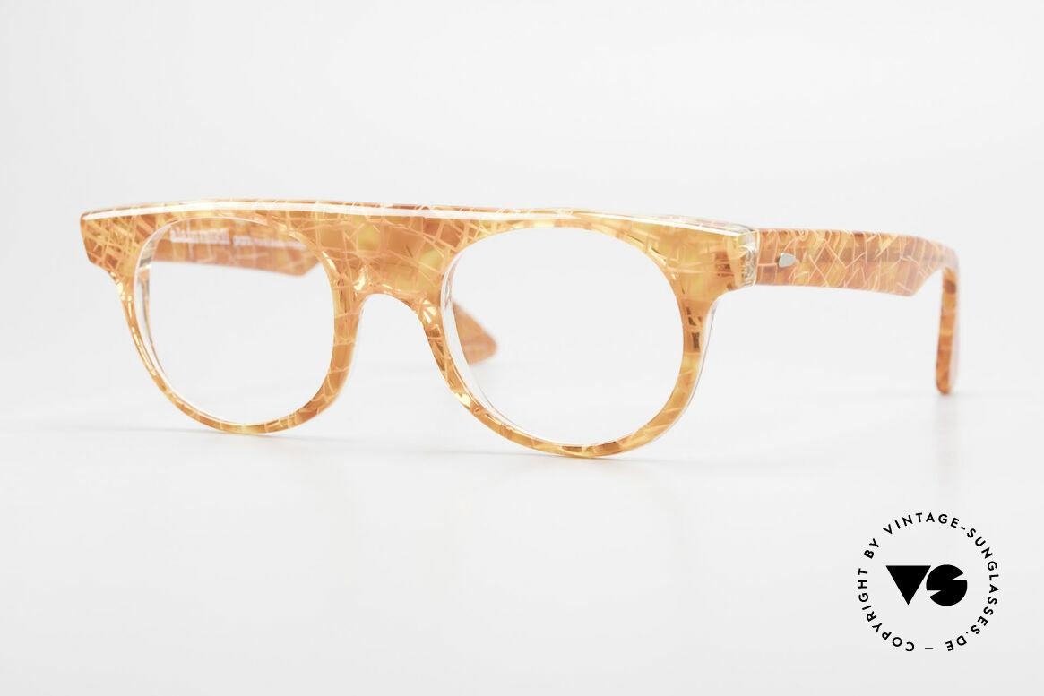 Alain Mikli 0127 / 166 80's Designer Eyeglass-Frame, eye-catching vintage Alain Mikli designer eyeglasses, Made for Women