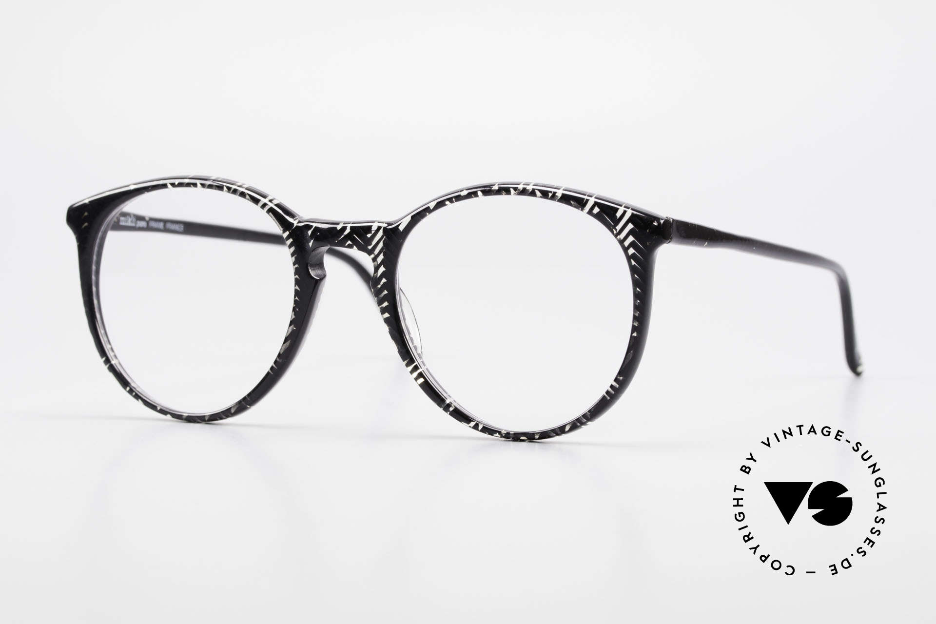 Alain Mikli 901 / 299 Panto Frame Black Crystal, elegant VINTAGE Alain Mikli designer eyeglasses, Made for Men and Women