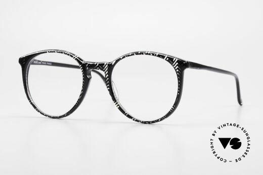 Alain Mikli 901 / 299 Panto Frame Black Crystal Details