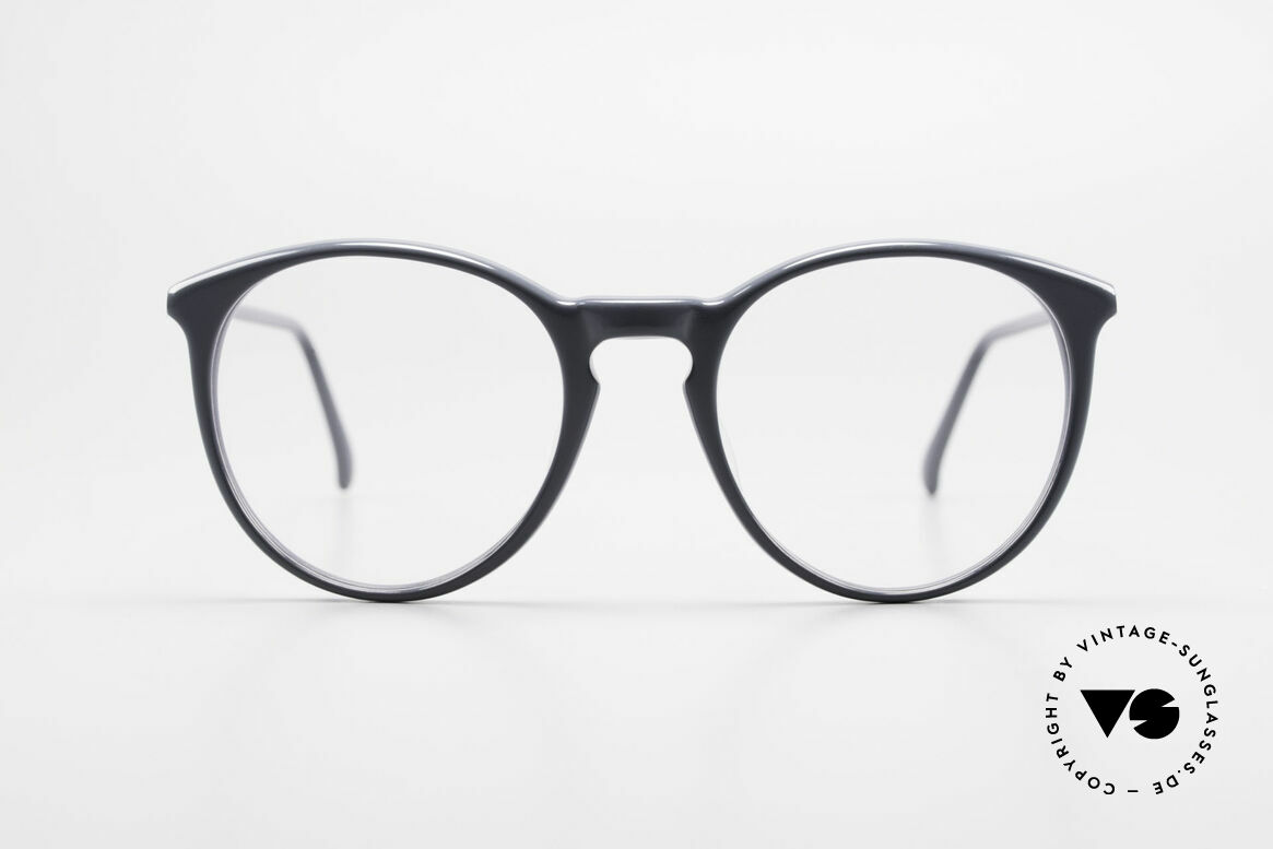 Alain Mikli 901 / 075 No Retro Glasses True Vintage, classic 'panto'-design with timeless gray coloring, Made for Men and Women