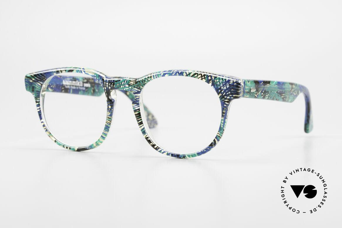 Alain Mikli 903 / 391 Panto Frame Green Patterned, timeless vintage Alain Mikli designer eyeglasses, Made for Men and Women