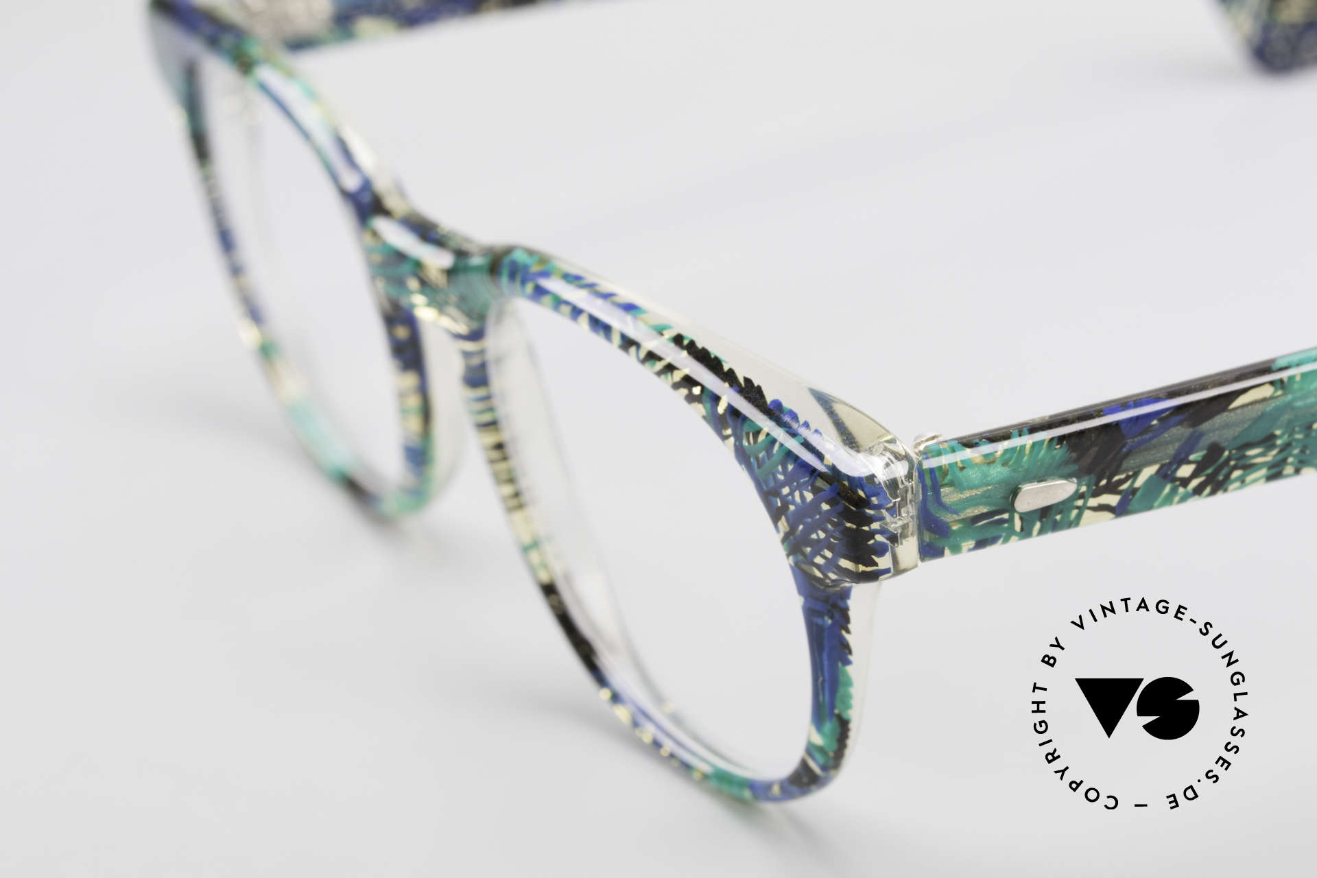 Alain Mikli 903 / 391 Panto Frame Green Patterned, handmade quality: green/blue/black/clear marbled, Made for Men and Women