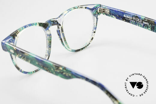 Alain Mikli 903 / 391 Panto Frame Green Patterned, NO RETRO eyewear, but an old Original from 1989, Made for Men and Women