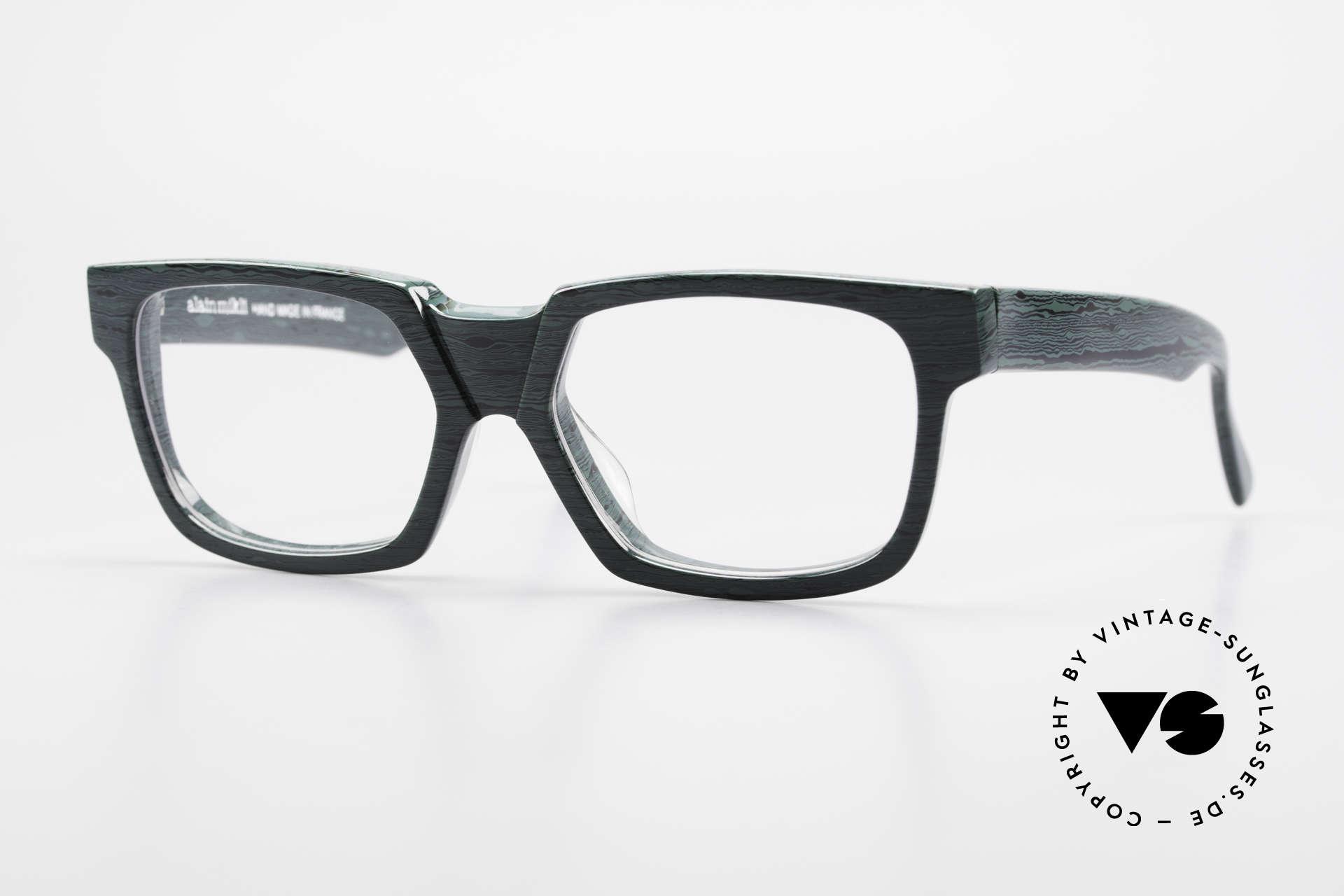 Alain Mikli 0143 / 285 Striking 1980's Eyeglasses, vintage ALAIN MIKLI designer eyeglasses from 1988, Made for Men and Women