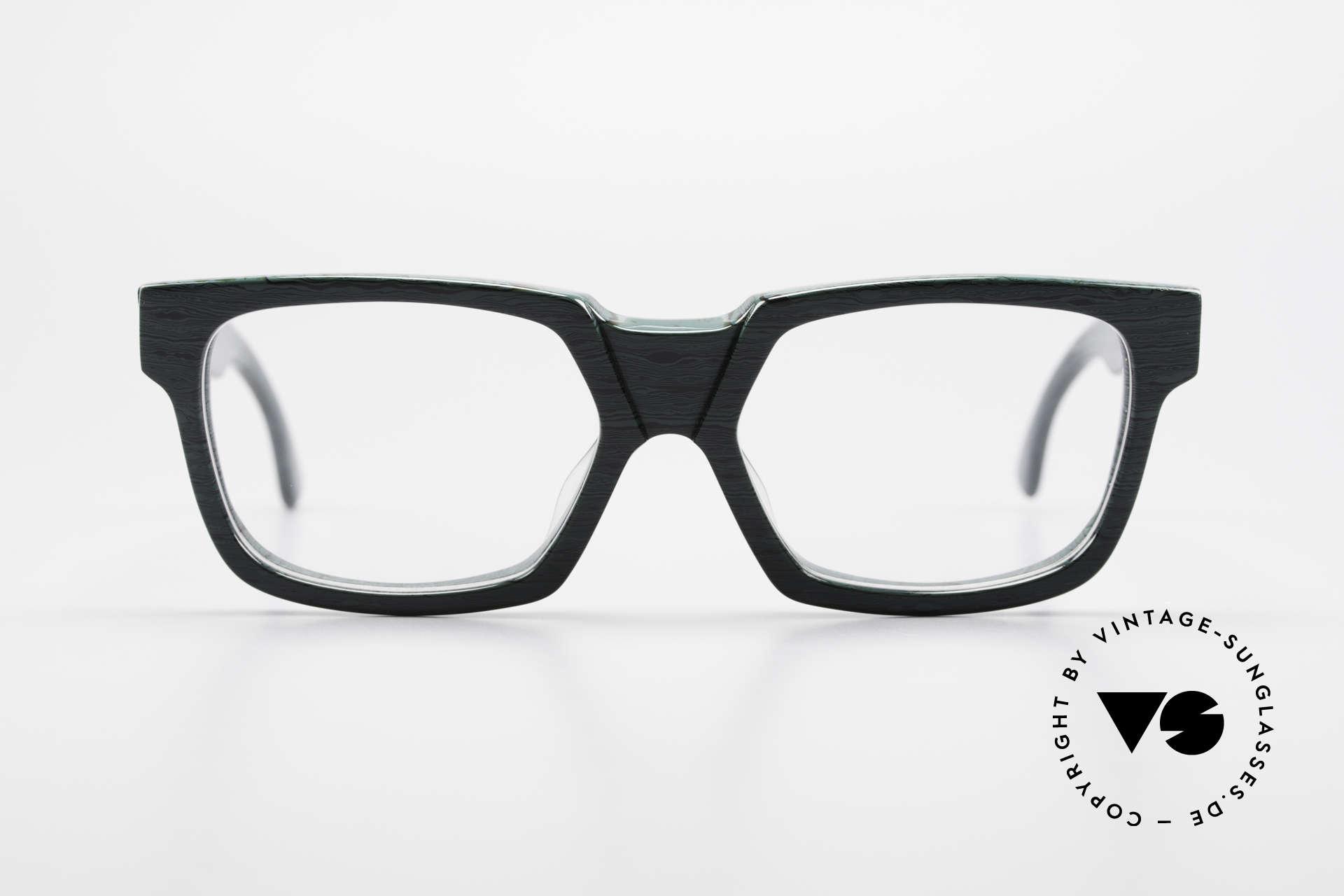 Alain Mikli 0143 / 285 Striking 1980's Eyeglasses, striking frame with very interesting pattern / color, Made for Men and Women