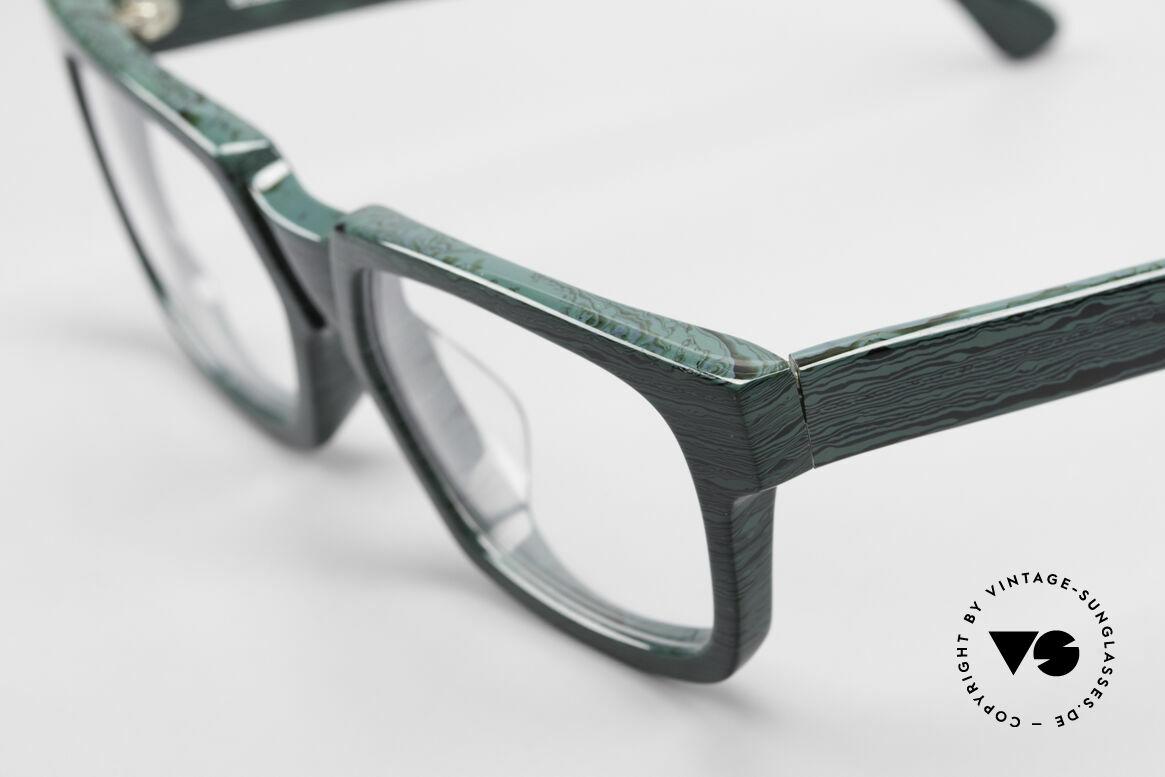 Alain Mikli 0143 / 285 Striking 1980's Eyeglasses, unworn (like all our vintage Alain Mikli eyeglasses), Made for Men and Women