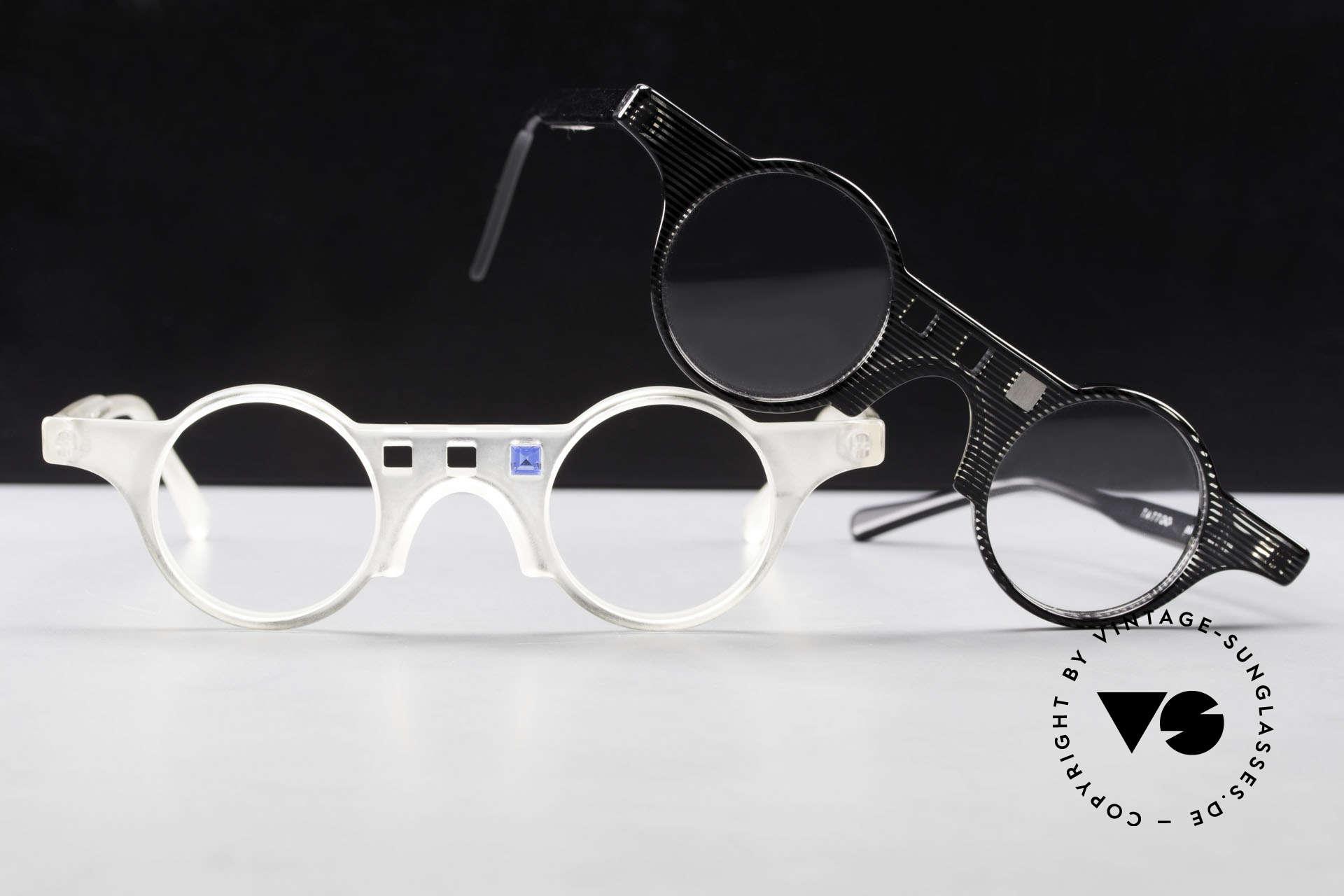 Tattoo Karfunkel 2 Fancy Vintage Eyeglasses, the appliqué is interchangeable; just a fancy idea, Made for Women