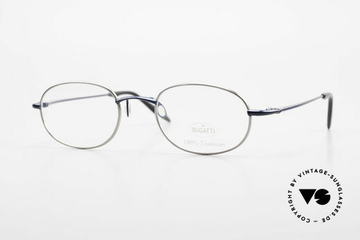 Bugatti 19062 Men's Titanium Eyeglasses 90's Details