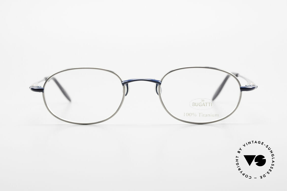 Bugatti 19062 Men's Titanium Eyeglasses 90's, outstanding craftsmanship (lightweight 14g frame), Made for Men