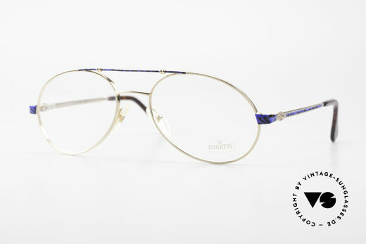 Bugatti 14818 Gold Plated Luxury Eyeglasses Details