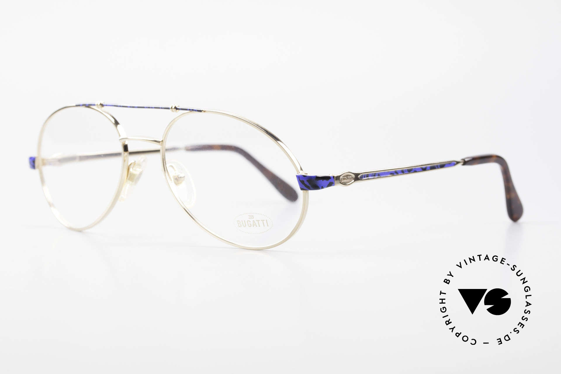 Bugatti 14818 Gold Plated Luxury Eyeglasses, flexible spring temples & top-notch craftmanship, Made for Men