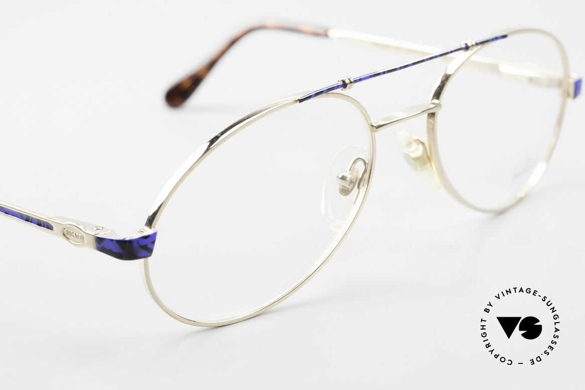 Bugatti 14818 Gold Plated Luxury Eyeglasses, unworn (like all our rare vintage BUGATTI frames), Made for Men