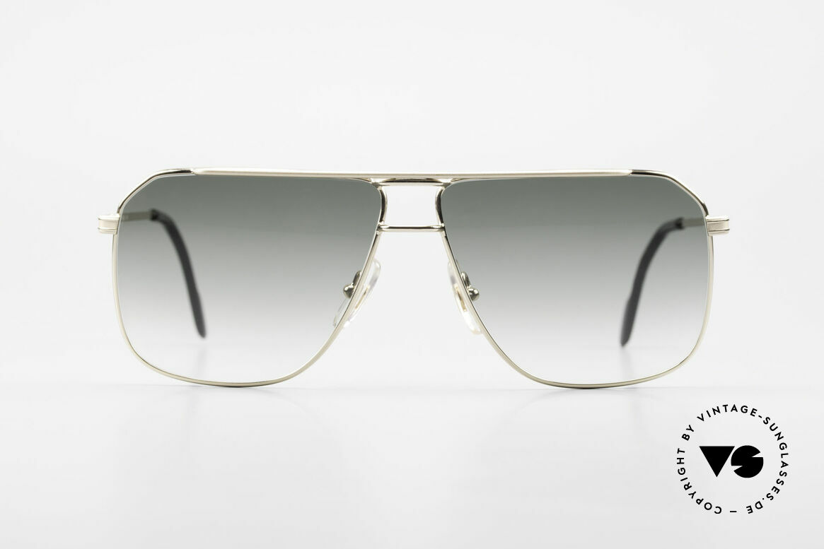 Ferrari F24 Men's Vintage Sunglasses 90's, tangible top-notch quality metal frame: gold-plated, Made for Men