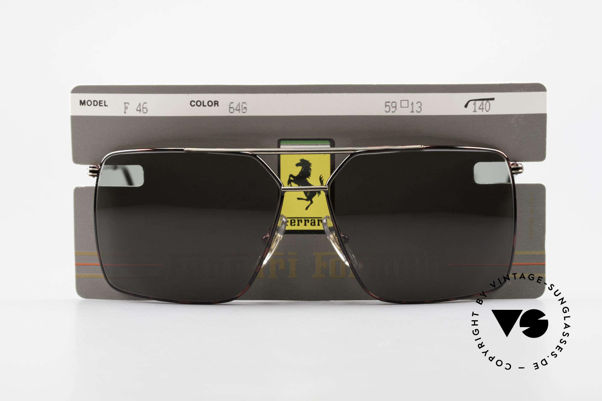 Ferrari F46 Ferrari Formula 1 Sunglasses, Size: medium, Made for Men
