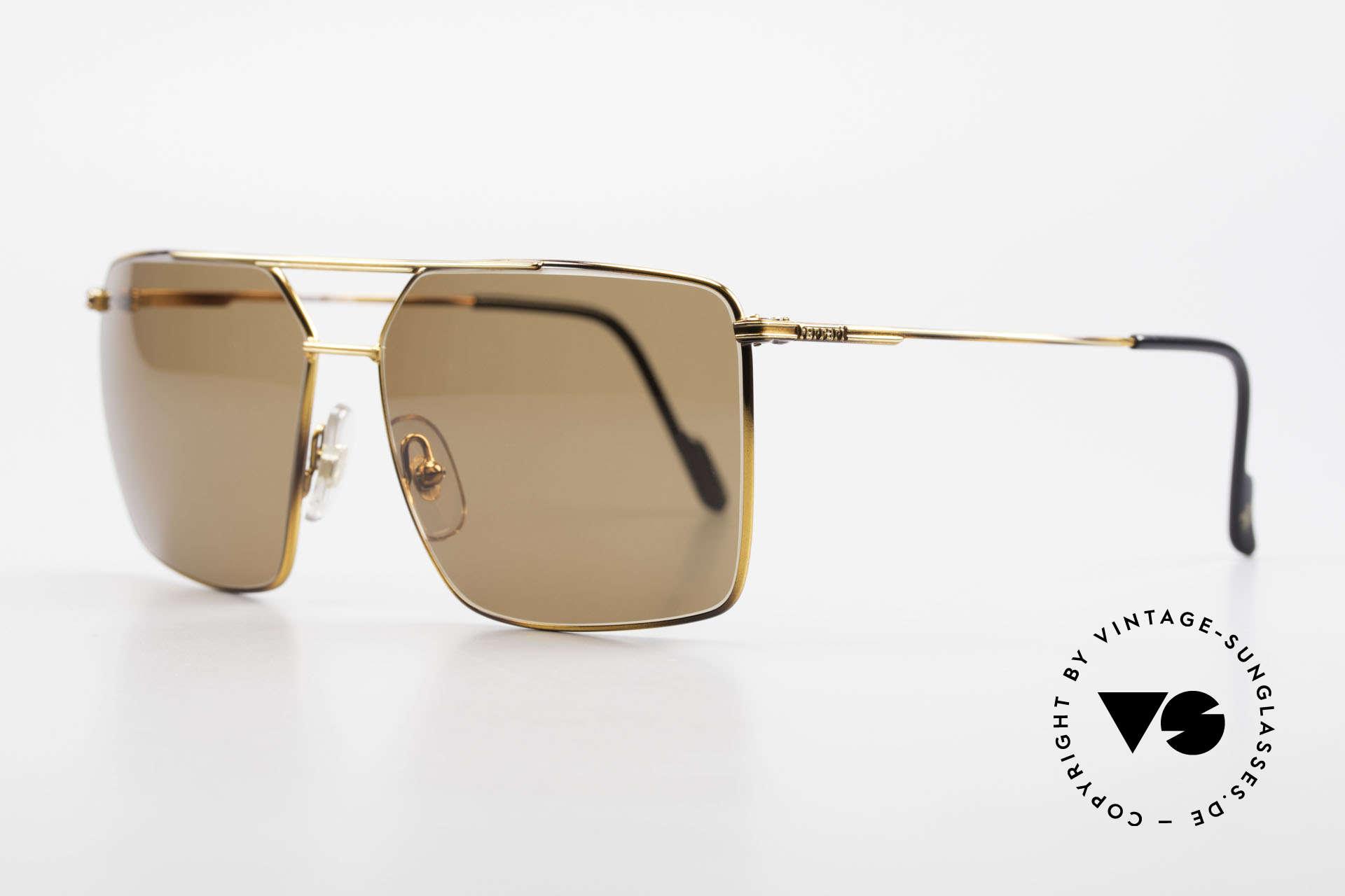 "Ferrari F46 Retro Sunglasses True Vintage, high-class finish in a kind of ""tortoise metallic"", Made for Men"