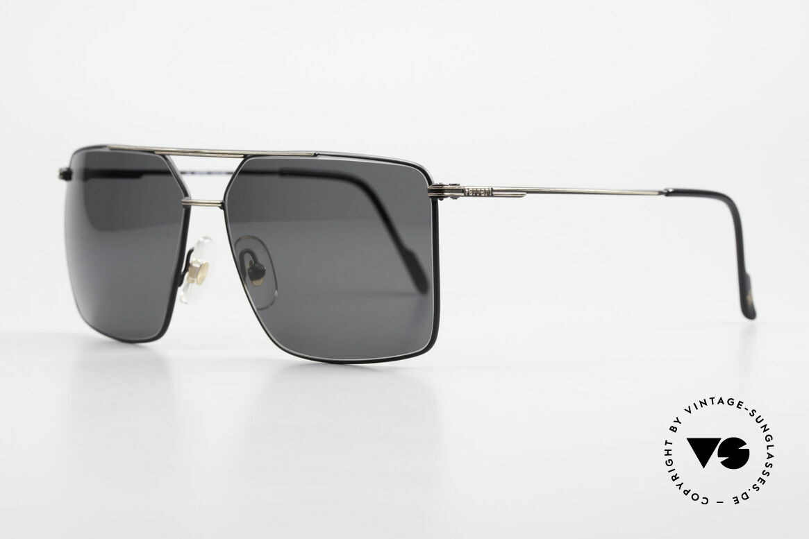 Ferrari F46 Retro Sunglasses Old Vintage, high-class frame finish: classic with black & gold, Made for Men
