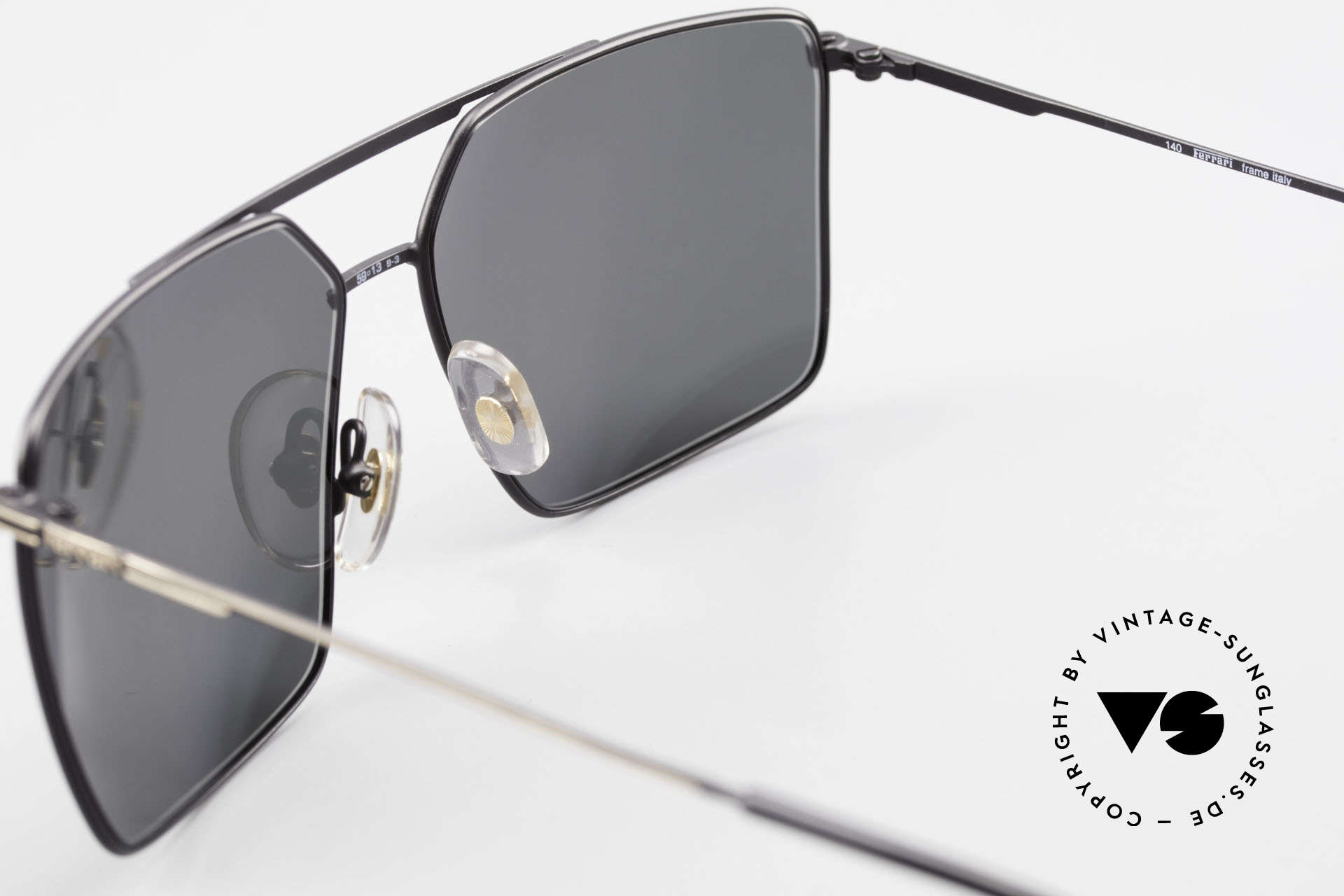 Ferrari F46 Retro Sunglasses Old Vintage, the sun lenses can be replaced with optical lenses, Made for Men