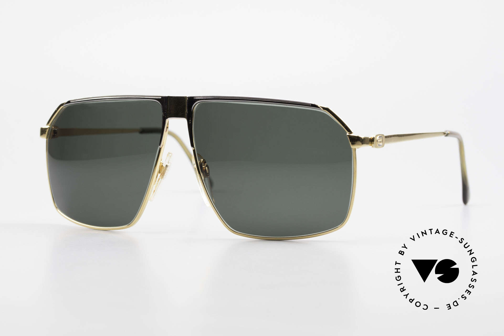 Gucci GG41 22kt Gold-Plated Sunglasses, vintage Gucci GG41 luxury shades, 22kt gold-plated, Made for Men