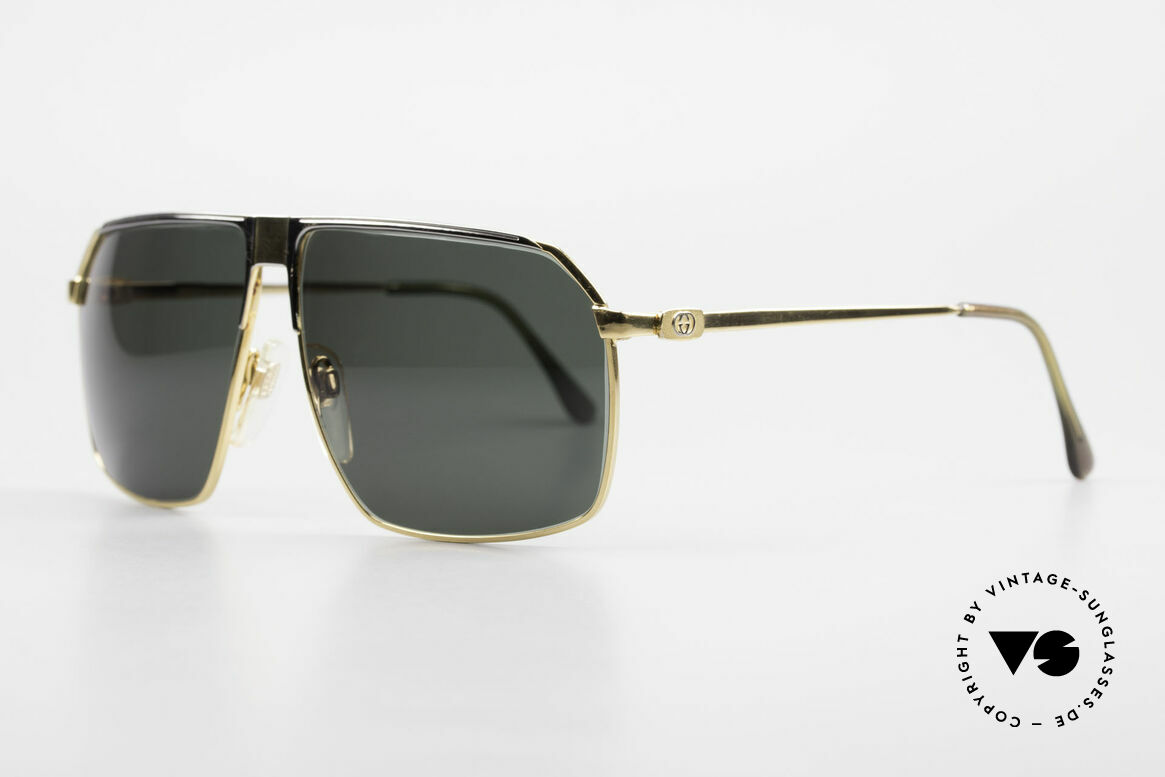 Gucci GG41 22kt Gold-Plated Sunglasses, pure luxury lifestyle with vintage charakter, RARE!, Made for Men