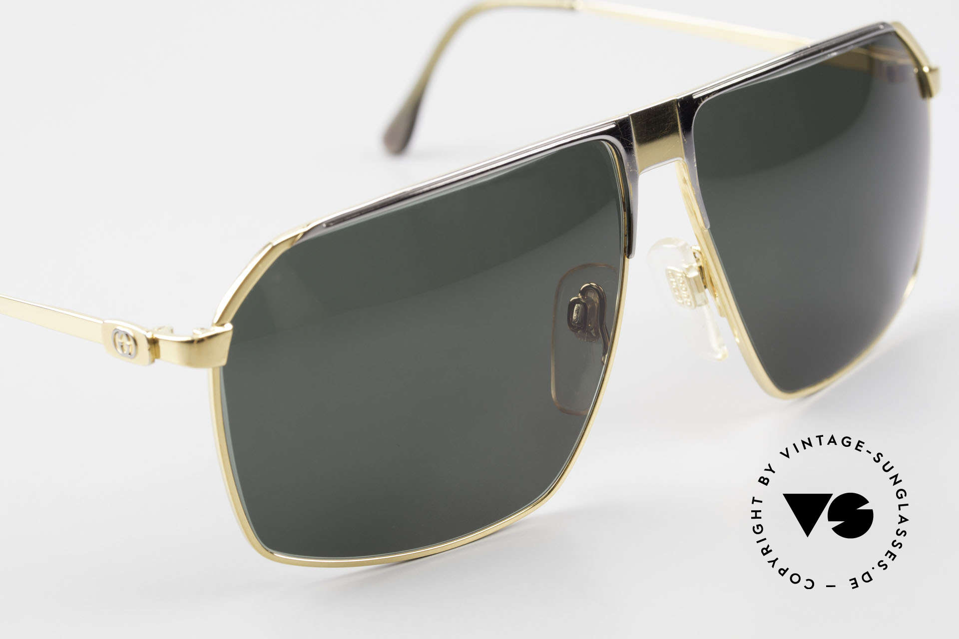Gucci GG41 22kt Gold-Plated Sunglasses, 2. hand in great vintage condition (incl. Gucci case), Made for Men