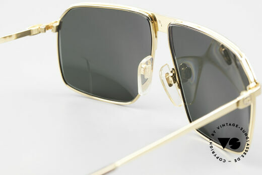 Gucci GG41 22kt Gold-Plated Sunglasses, NO RETRO fashion, but real 1980's retail commodity, Made for Men