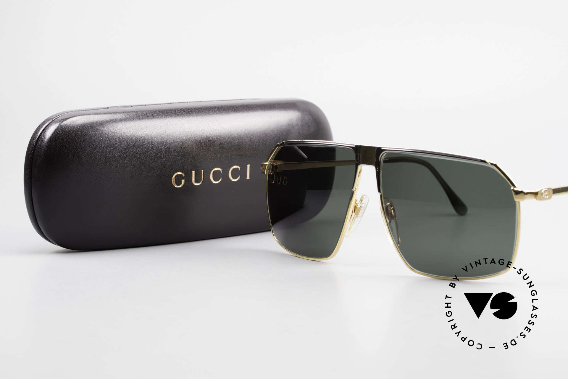 Gucci GG41 22kt Gold-Plated Sunglasses, Size: large, Made for Men