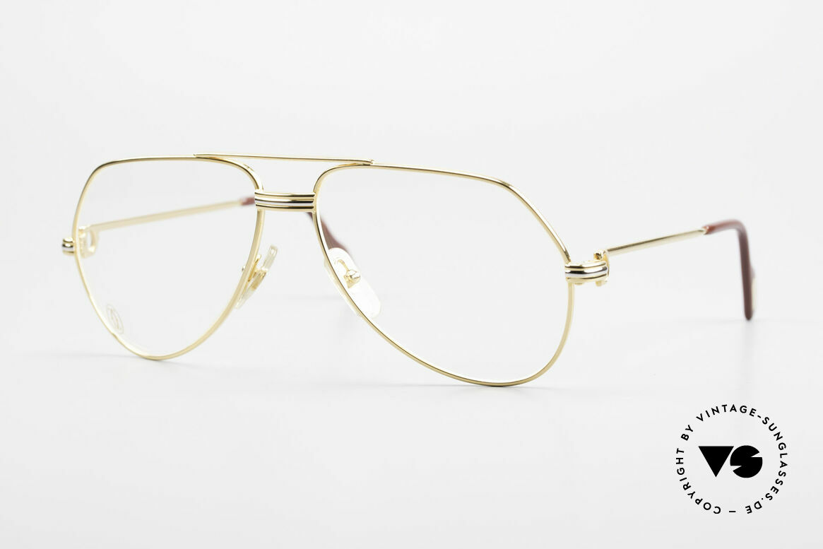 Cartier Vendome LC - S David Bowie 80's Vintage Frame, Vendome = the most famous eyewear design by CARTIER, Made for Men and Women