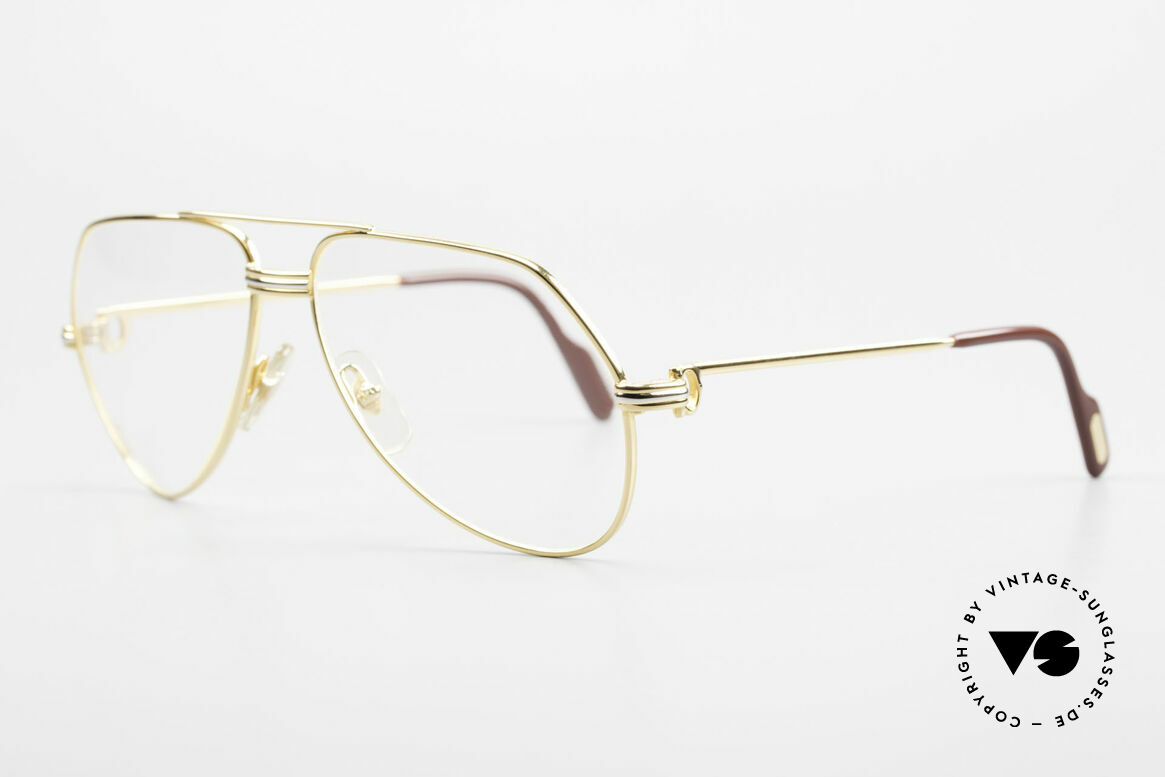 Cartier Vendome LC - S David Bowie 80's Vintage Frame, this pair (with L.Cartier decor) is SMALL size 56-14,130, Made for Men and Women