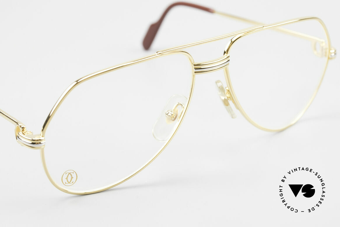 Cartier Vendome LC - S David Bowie 80's Vintage Frame, luxury frame (22ct gold-plated) with full orig. packing!, Made for Men and Women