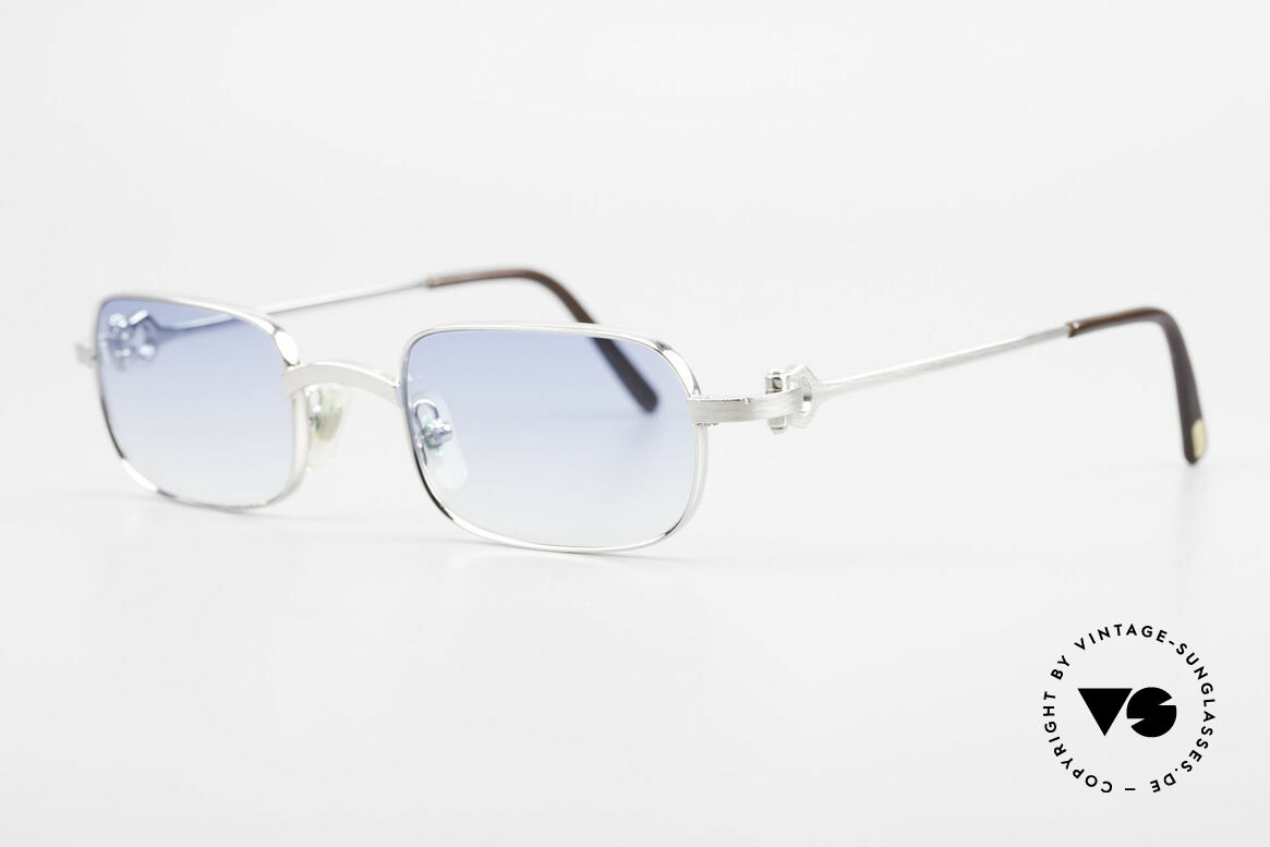 Cartier Dreamer Luxury Frame With Chanel Case, brushed platinum finish (noble & 1st class quality), Made for Men