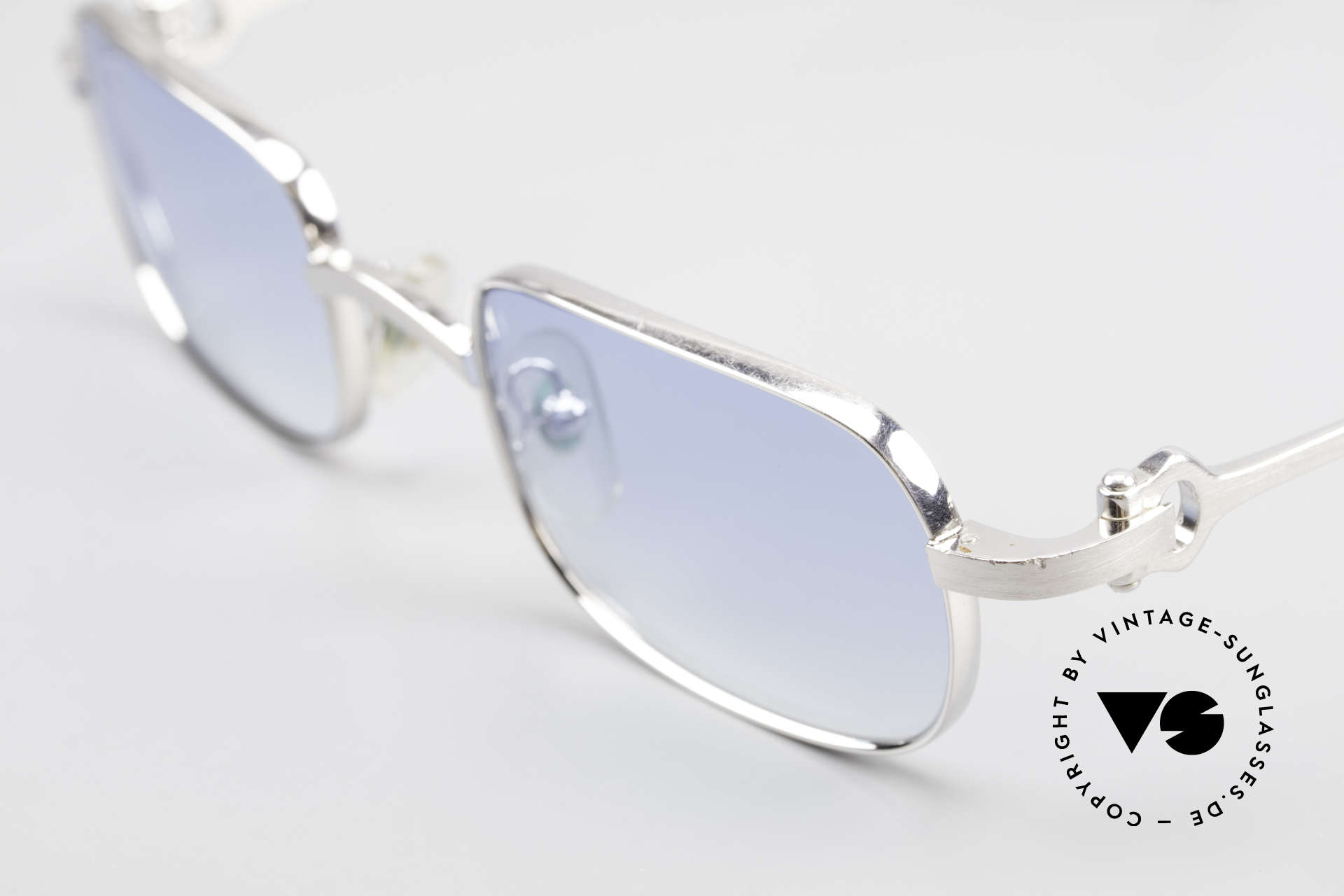Cartier Dreamer Luxury Frame With Chanel Case, light blue-gradient lenses (also wearable at night), Made for Men