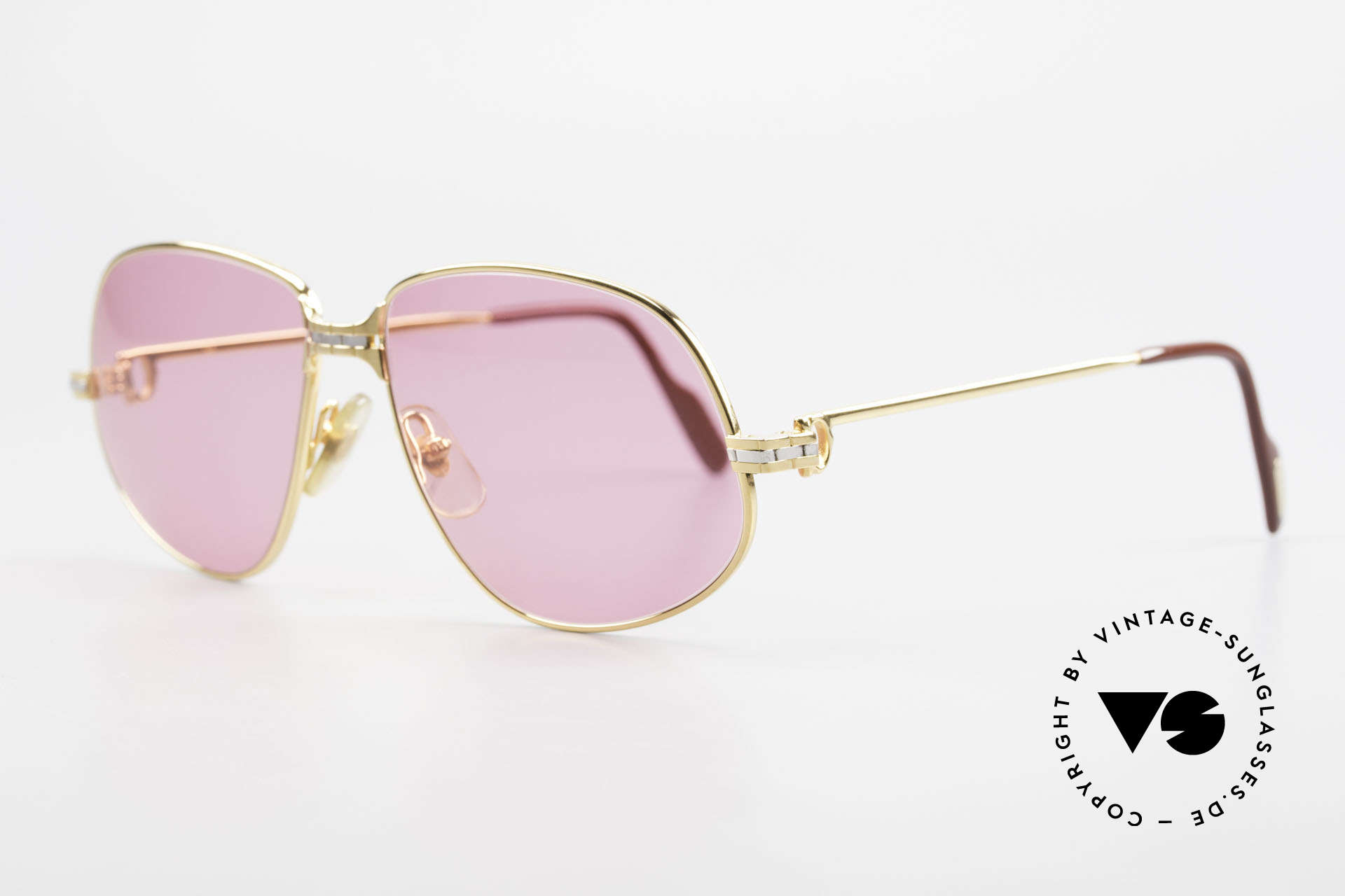 Cartier Panthere G.M. - M Pink Glasses With Chanel Case, precious luxury eyeglass-frame; MEDIUM size 56-14, 135, Made for Men and Women