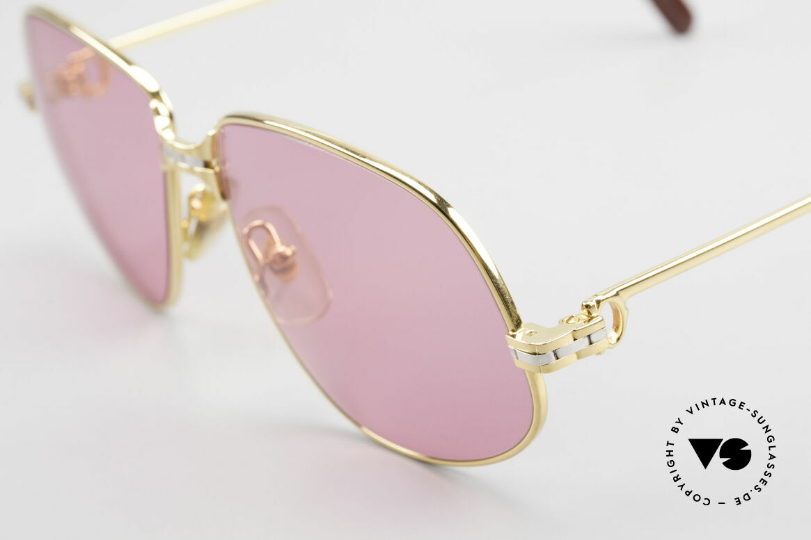 Cartier Panthere G.M. - M Pink Glasses With Chanel Case, 22ct gold-plated frame with new pink sun lenses, 100% UV, Made for Men and Women