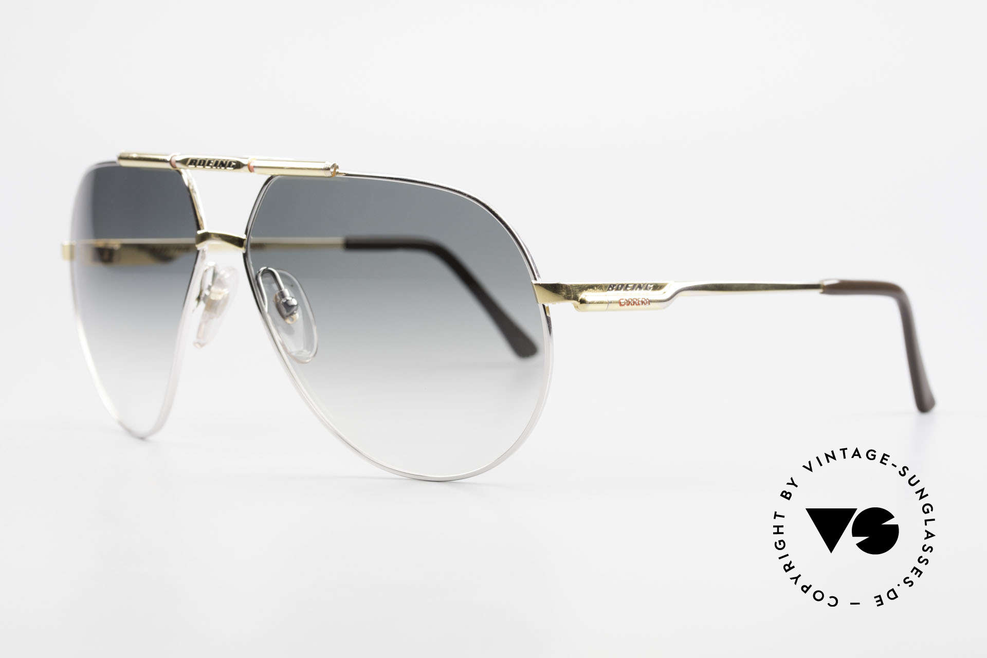 Boeing 5705 Original 80's Pilots Shades, integrated shock-absorbers and self-adjusting pads, Made for Men