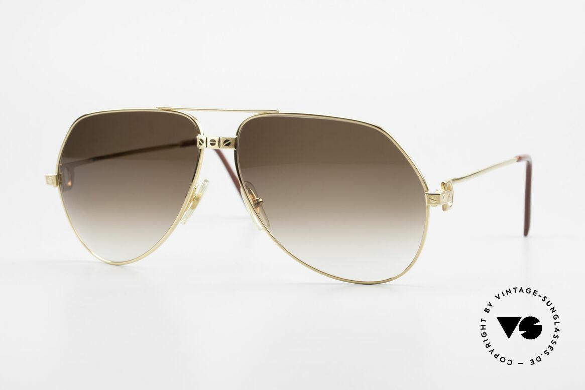 Cartier Vendome Santos - L Special Edition Fully Gold, unique Cartier Vendome sunglasses, LARGE size 62°14, Made for Men