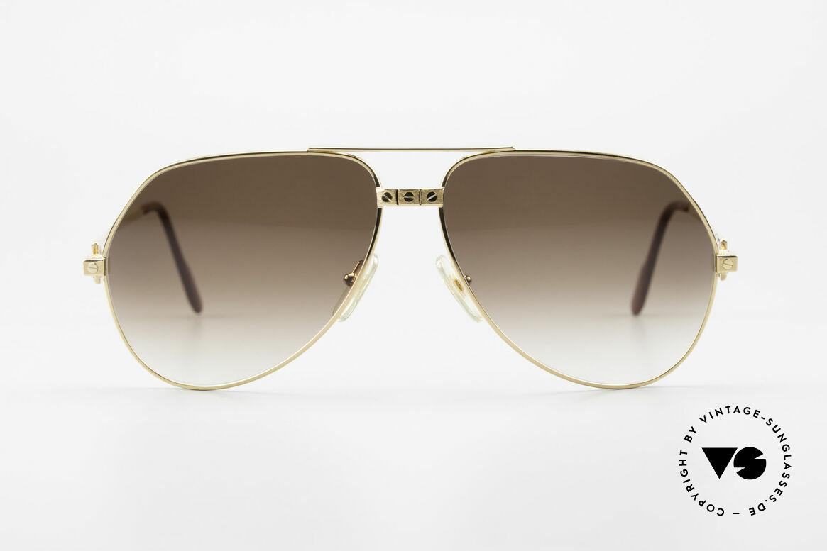 Cartier Vendome Santos - L Special Edition Fully Gold, true precious rarity made by our jeweler; one of a kind, Made for Men