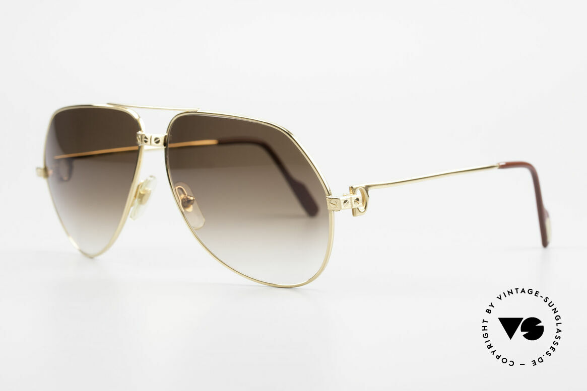 Cartier Vendome Santos - L Special Edition Fully Gold, fully 22ct GOLD-PLATED frame (even the Santos screws), Made for Men