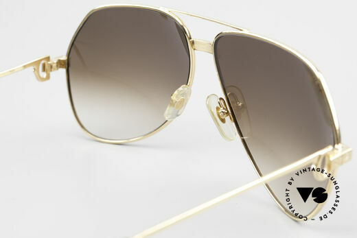 Cartier Vendome Santos - L Special Edition Fully Gold, 2nd hand vintage model in an absolutely mint condition, Made for Men