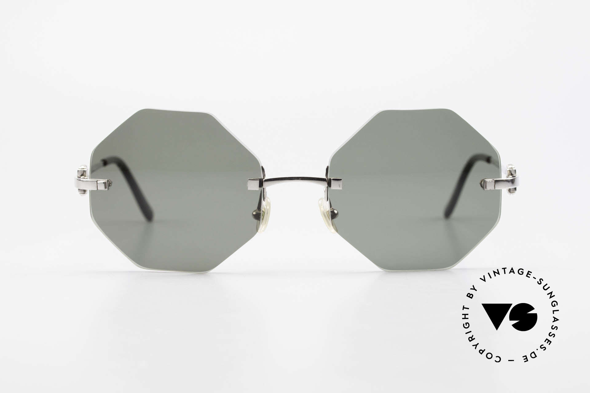 Cartier Rimless Octag Octagonal Luxury Sunglasses, model of the rimless series with new OCTAG lenses, Made for Men and Women
