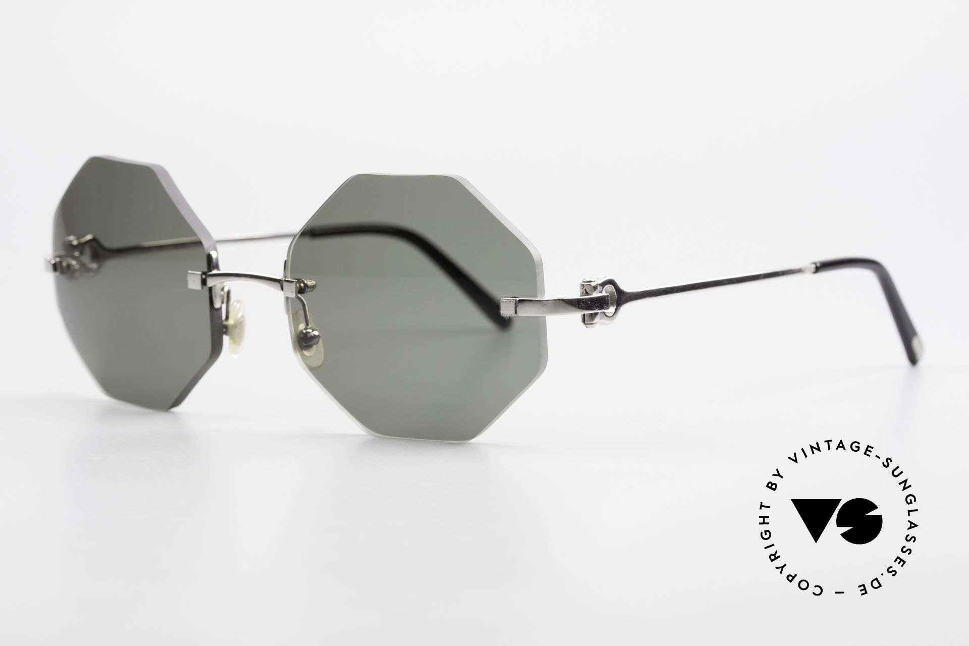 Cartier Rimless Octag Octagonal Luxury Sunglasses, customized by our optician; MEDIUM size (135mm)!, Made for Men and Women