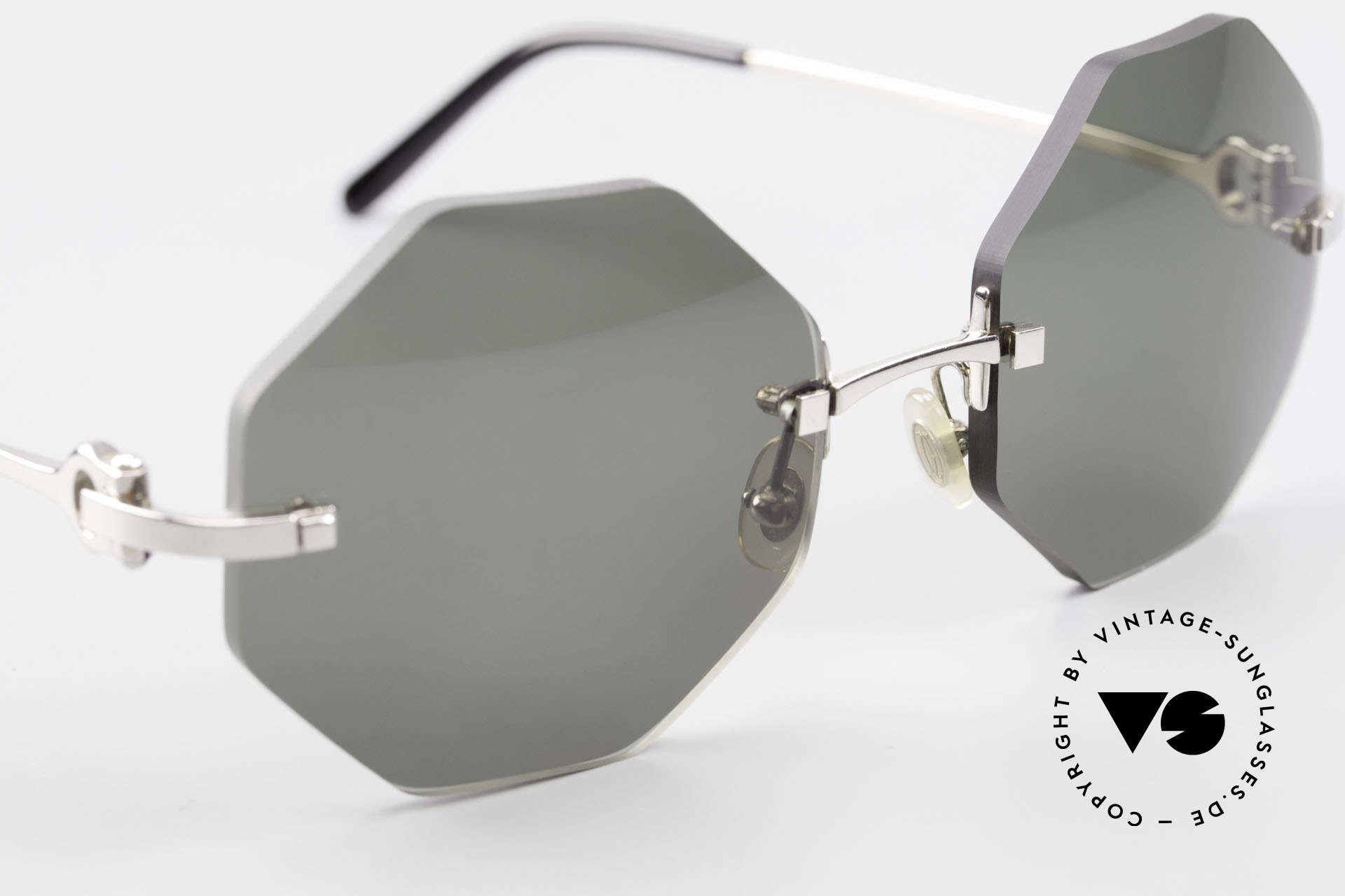 Cartier Rimless Octag Octagonal Luxury Sunglasses, 2nd hand model, but in mint condition + orig. case, Made for Men and Women