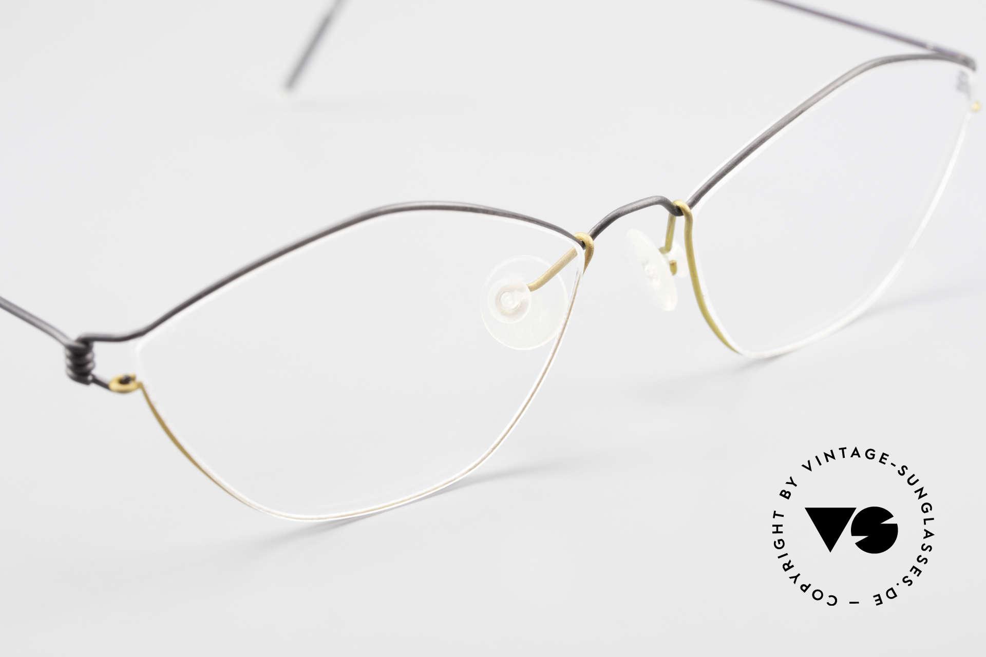 Lindberg Hydra Air Titan Rim Titanium Glasses For Ladies, unworn, NOS, with original magnetic case by Lindberg, Made for Women