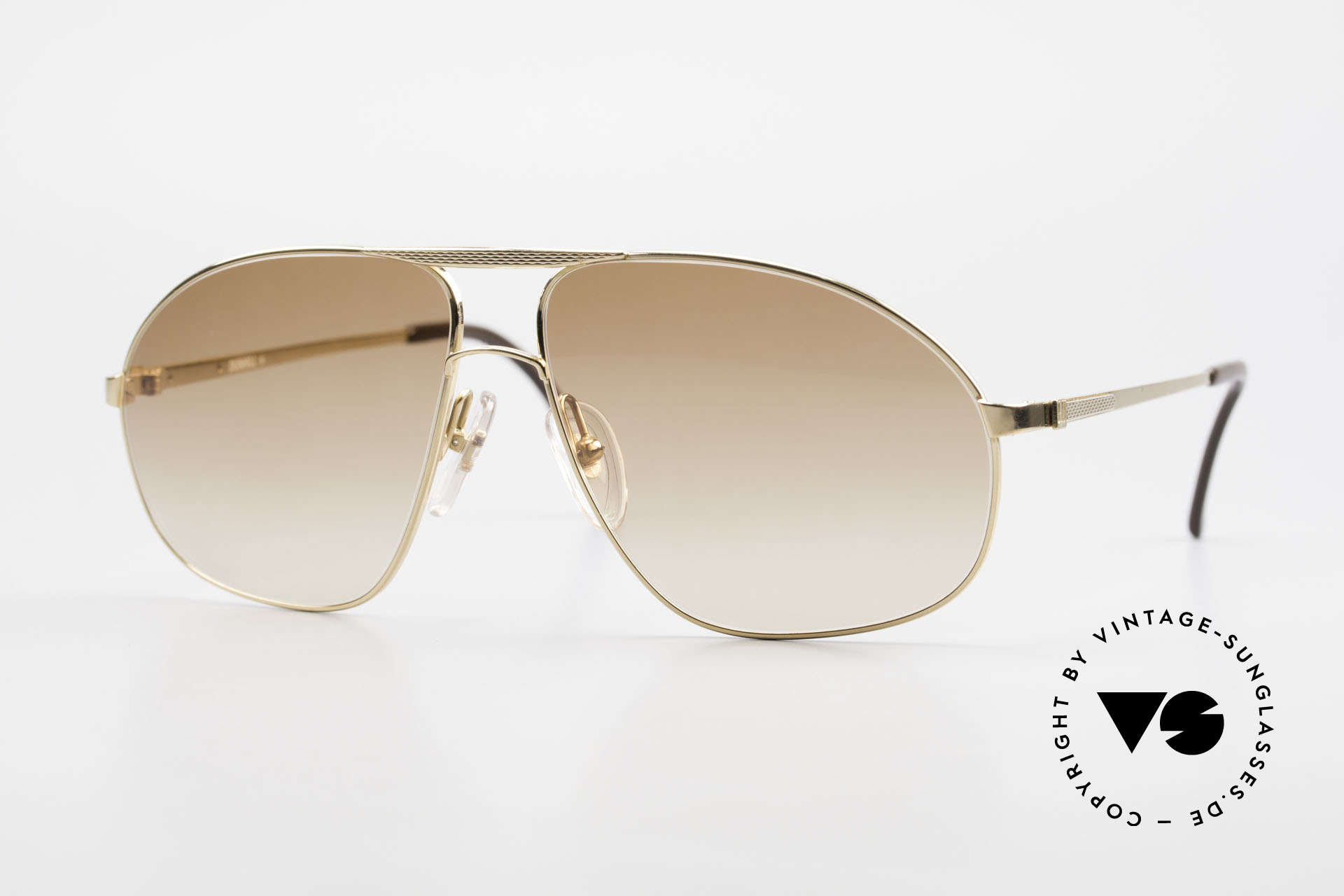 Dunhill 6125 Gold Plated Aviator Frame 90's, LUXURY vintage sunglasses by A. DUNHILL from 1990, Made for Men